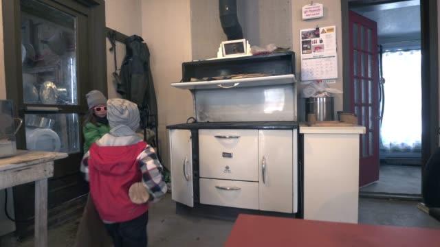 sugar shack family weekend - north america stock videos & royalty-free footage