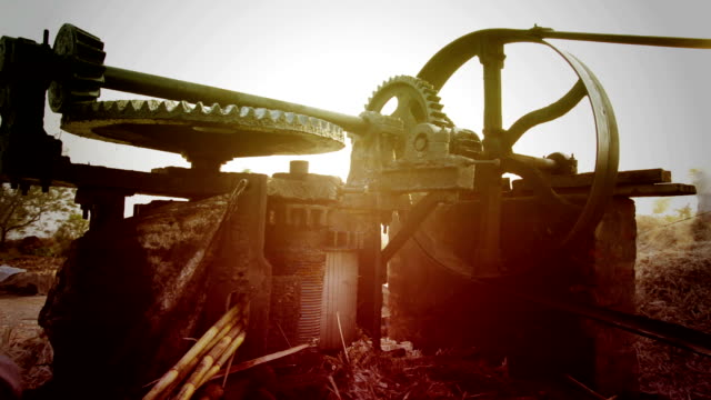 sugarcane crusher machine - stick plant part stock videos & royalty-free footage