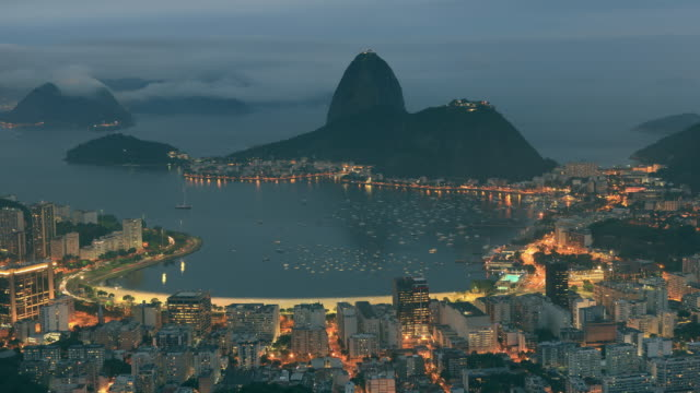 stockvideo's en b-roll-footage met sugarloaf mountain time lapse in rio de janeiro - brazilië
