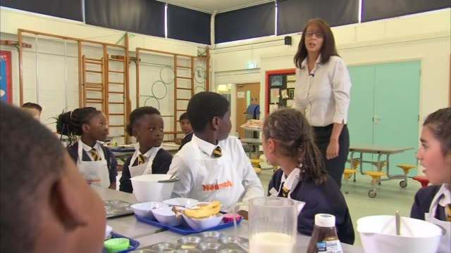 sugarwise charity has started a scheme to limit sugar consumption at schools england london croydon broadmead primary school int primary school... - classroom stock videos & royalty-free footage