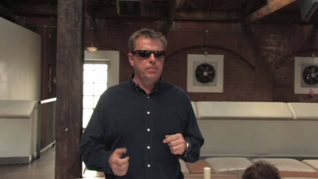 suggs explaining how the origins of the album title the liberty of norton folgate and his penny and pint manifesto at the madness album launch at... - album title stock videos and b-roll footage