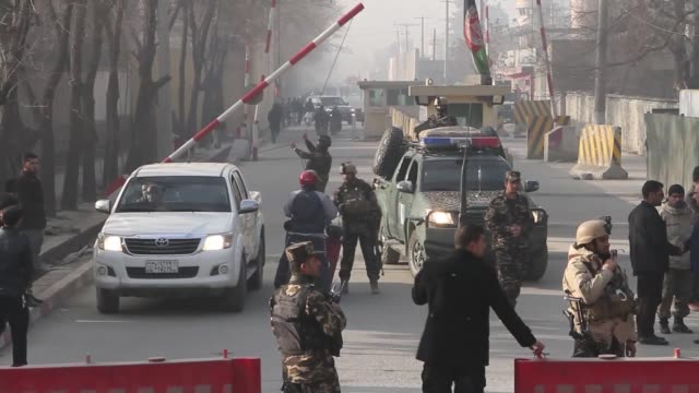 A suicide blast close to the compound of Afghanistan's top spy agency the National Directorate of Security in the capital Kabul on December 25 2017...