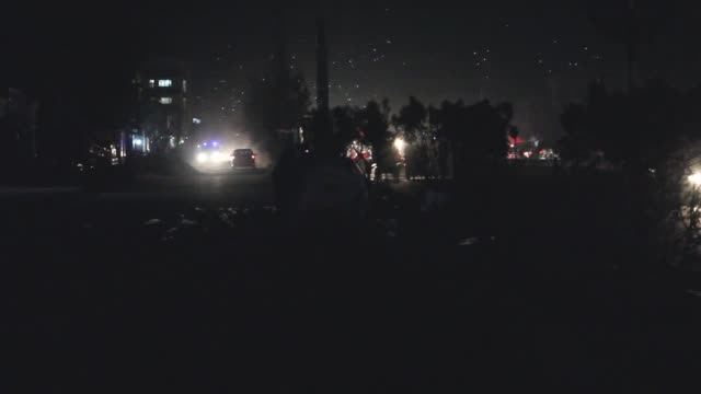 a suicide bombing at a religious ceremony in capital kabul on tuesday killed at least 43 people officials and local media confirmed najib danish... - kabul stock-videos und b-roll-filmmaterial