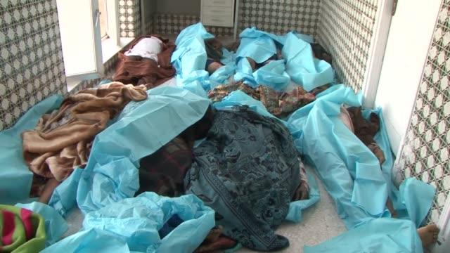 suicide bombings claimed by the islamic state jihadist group killed at least 142 people friday at mosques in the yemeni capital in an attack... - dead stock videos & royalty-free footage