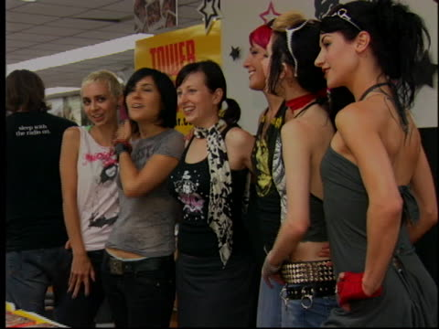 suicide girls at the suicide girls at tower records at tower records los angeles in los angeles, ca. - tower records stock videos & royalty-free footage