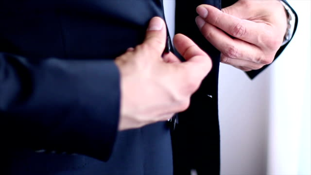 Suit and hands