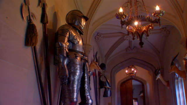 suit of armor in a museum - greave stock videos and b-roll footage