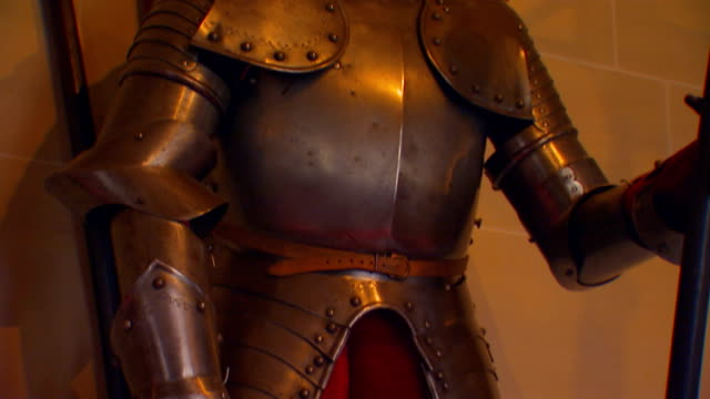 suit of armor - traditional helmet stock videos and b-roll footage
