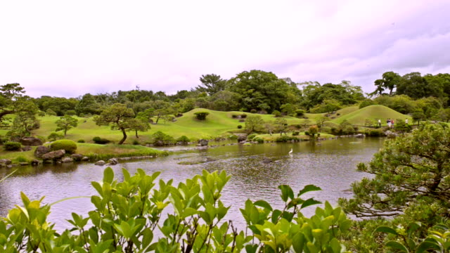 suizenji garden in kumamoto japan - 17th century style stock videos & royalty-free footage