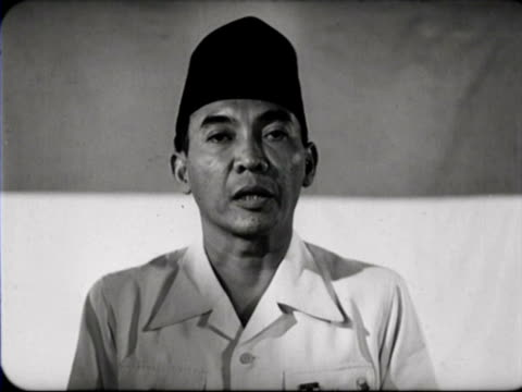 Sukarno making speech / Indonesia