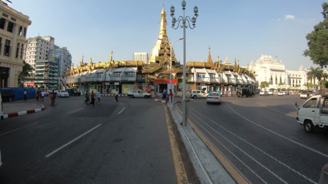 sule pagoda traffic - pagoda stock videos & royalty-free footage