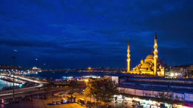 suleymaniye mosque and galata bridge - suleymaniye mosque stock videos and b-roll footage