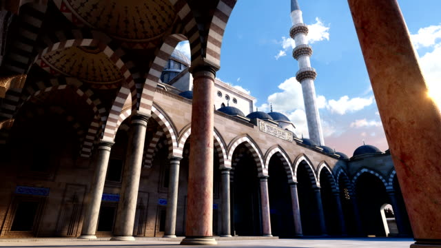 3d suleymaniye mosque - istanbul stock videos & royalty-free footage