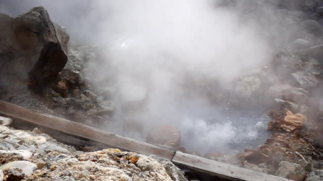 sulfur fountain - hot spring stock videos & royalty-free footage