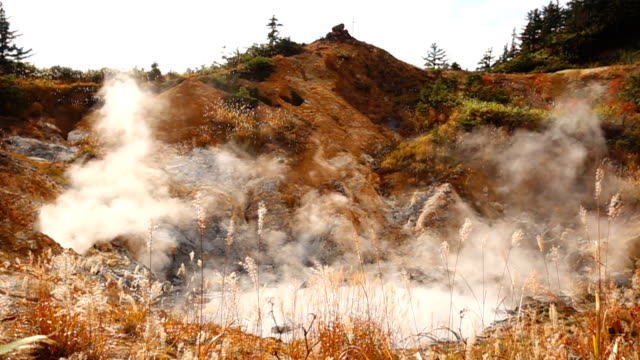 sulfur fountain - oita prefecture stock videos & royalty-free footage