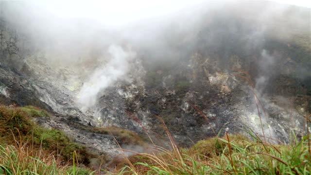 Sulfur inside rock