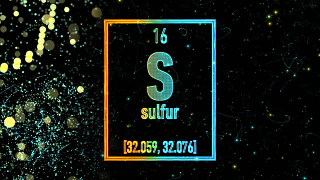 Sulfur Chemical Symbol Videos And B Roll Footage Getty Images
