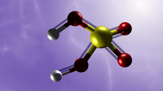 sulfuric acid molekule - sulphur stock videos & royalty-free footage