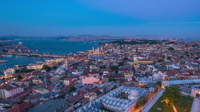 sultahamet & the bosphorus, istanbul - istanbul stock videos & royalty-free footage