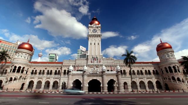 sultan abdul samad building, kuala lumpur, malaysia - malaysian culture stock videos and b-roll footage