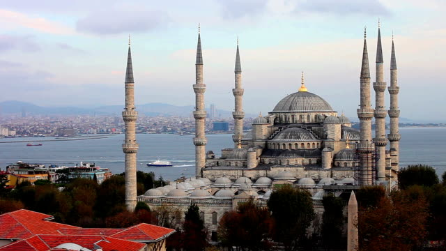 sultan ahmet camii - blue mosque in istanbul - ottoman stock videos and b-roll footage