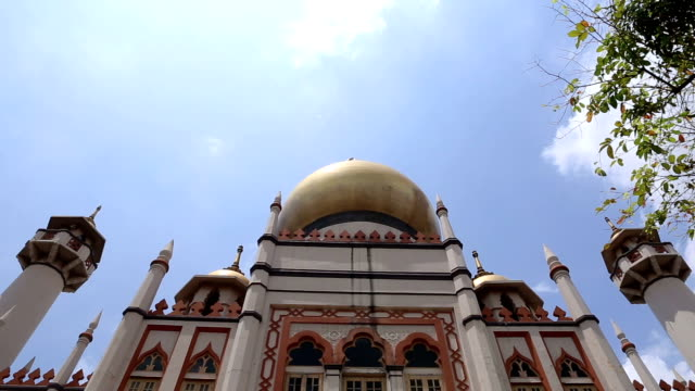 vdo :sultan mosque in singapore - sultan mosque singapore stock videos and b-roll footage