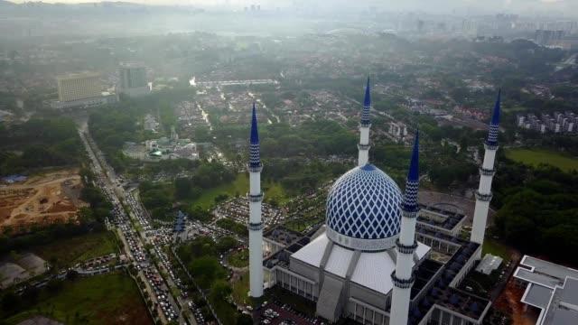 Sultan Salahuddin Abdul Aziz Shah Mosque in Shah Alam, Malaysia