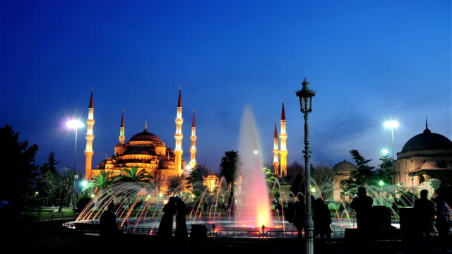 sultanahmet mosque timelapse - sultanahmet district stock videos and b-roll footage