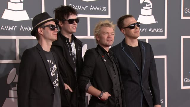 Sum 41 at 54th Annual GRAMMY Awards Arrivals on 2/12/12 in Los Angeles CA