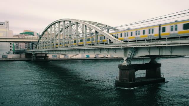 隅田川東京日本 - 列車点の映像素材/bロール