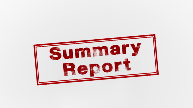 summary report - seal stamp stock videos and b-roll footage