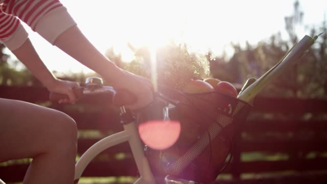 summer bike ride. - pedal pushers stock videos & royalty-free footage