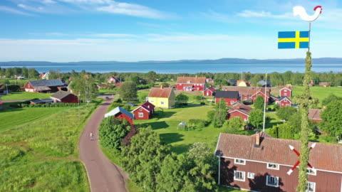 vídeos y material grabado en eventos de stock de verano junto al lago siljan, suecia - sweden