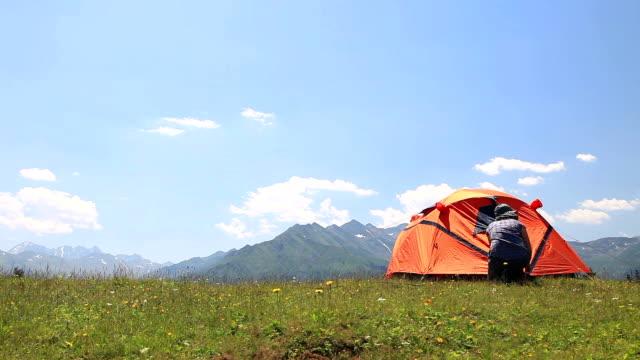 HD: Summer Camping in Idyllic Mountain Landscape