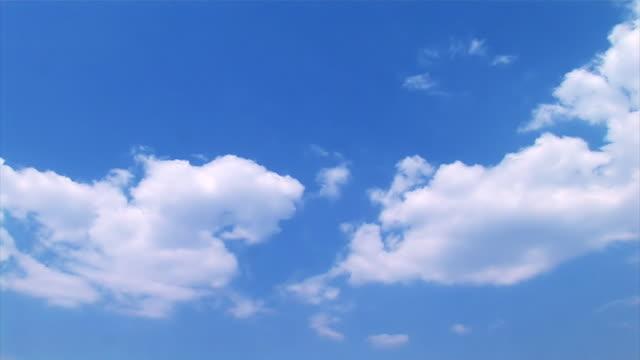 vídeos de stock, filmes e b-roll de verão de nuvens no céu azul, intervalo de tempo - só céu