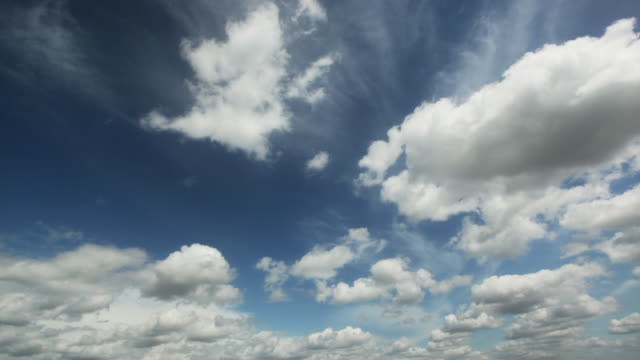 summer clouds. time lapse - cirrocumulus stock videos & royalty-free footage