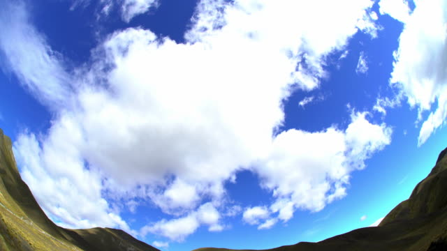 summer cloudscape southern alps open range new zealand - new zealand southern alps stock videos & royalty-free footage