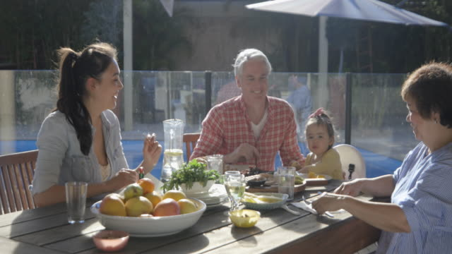 summer dining outdoors - dining table stock videos & royalty-free footage
