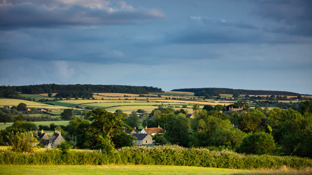 summer evening in the cotswolds - time lapse - image stock videos & royalty-free footage