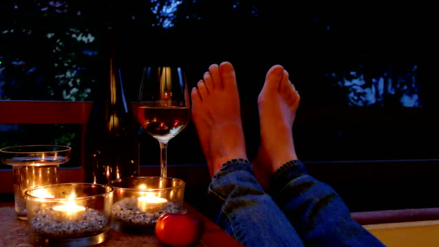 sommarkväll på balkongen - candlelight bildbanksvideor och videomaterial från bakom kulisserna