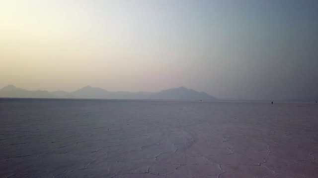 summer evening on the salt flats - bonneville salt flats stock videos and b-roll footage