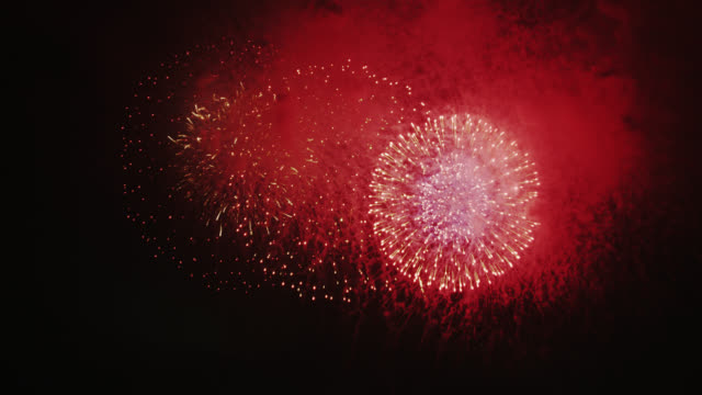 summer fireworks - firework display stock videos & royalty-free footage