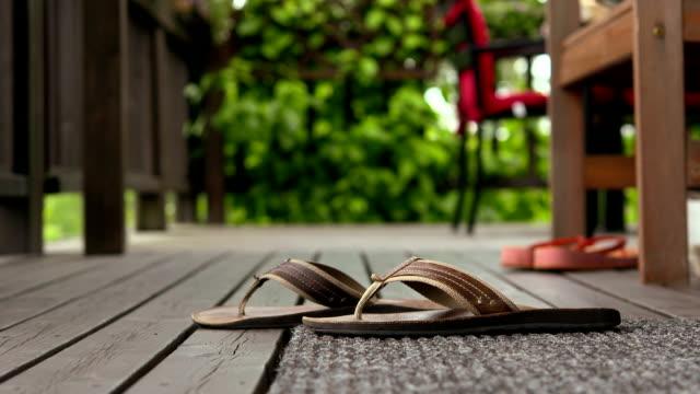 summer footwear - flip flop stock videos and b-roll footage