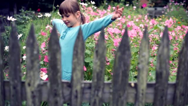 vídeos de stock e filmes b-roll de verão de jardinagem - cerca