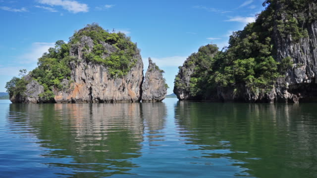 summer holiday boat excursion, ko talabeng, thailand - ko lanta stock videos & royalty-free footage