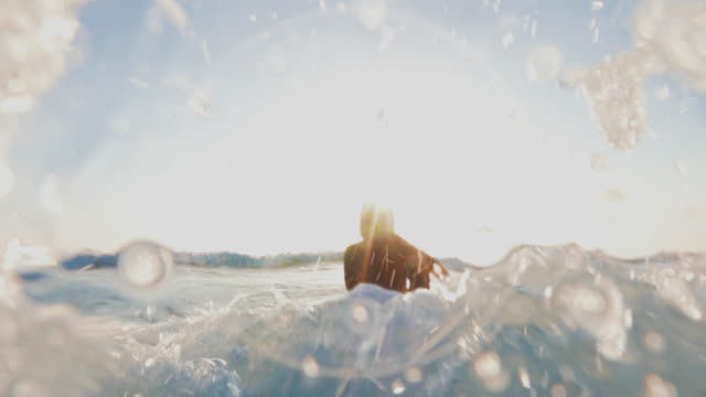 summer is here: surfer girls in action - coastal feature stock videos & royalty-free footage
