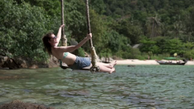 summer is in full swing - rope swing stock videos & royalty-free footage