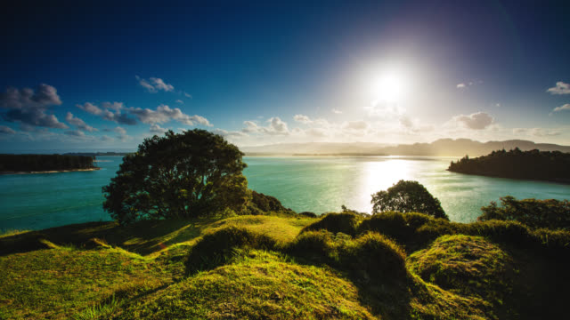 time lapse: summer landscape - new zealand stock videos & royalty-free footage