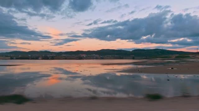 Sommerlandschaft mit Sonnenuntergang Wasser