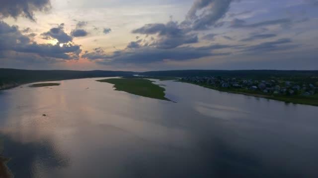 夕日水夏の風景 - 地衣類点の映像素材/bロール